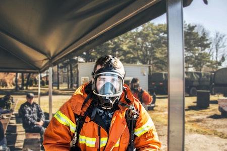 Atemschutzmaske Gefahrenstoff Abwehr