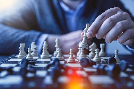 Schachspiel in der Krise